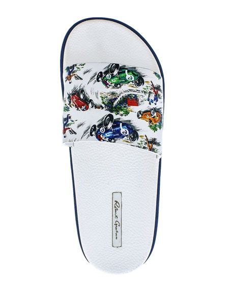 Image 2 of 4: Robert Graham Men's Refuel Race Car Slide Sandals