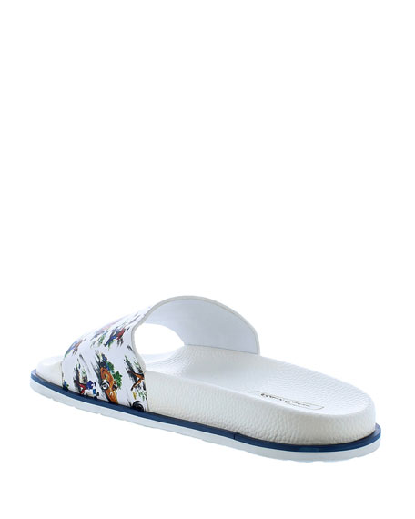 Image 4 of 4: Robert Graham Men's Refuel Race Car Slide Sandals