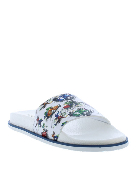 Image 1 of 4: Robert Graham Men's Refuel Race Car Slide Sandals