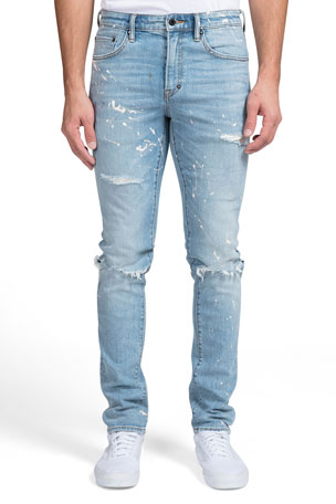 PRPS Men's Le Sabre Paint-Splattered Jeans