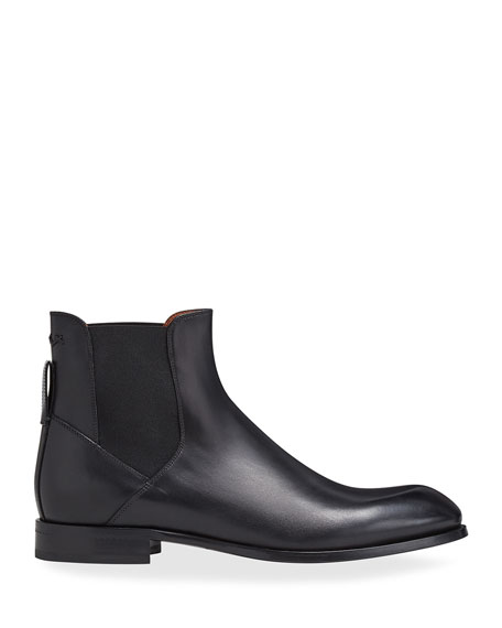 Image 3 of 4: Ermenegildo Zegna Men's Vienna Solid Leather Chelsea Boots