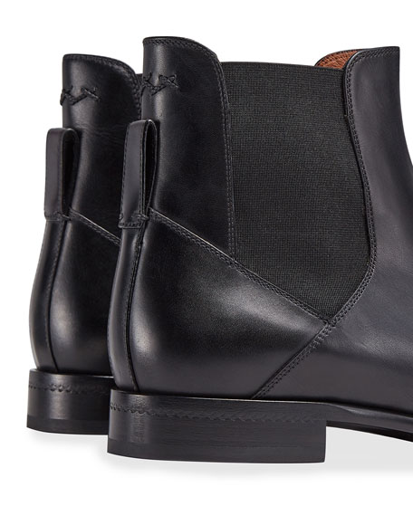 Image 4 of 4: Ermenegildo Zegna Men's Vienna Solid Leather Chelsea Boots