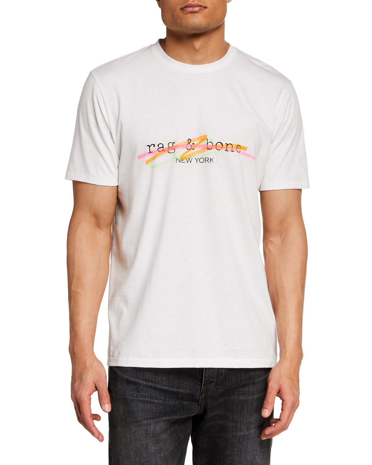 Rag & Bone Men's Highlighter Logo T-Shirt