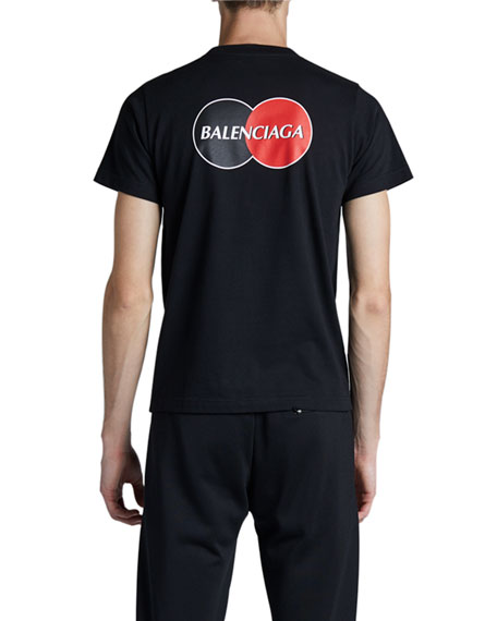 Image 3 of 3: Balenciaga Men's CC Logo T-Shirt