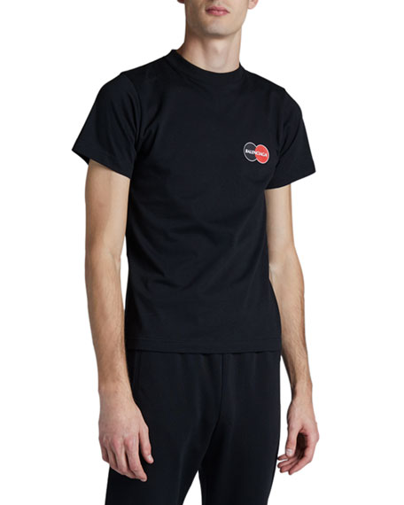 Image 1 of 3: Balenciaga Men's CC Logo T-Shirt