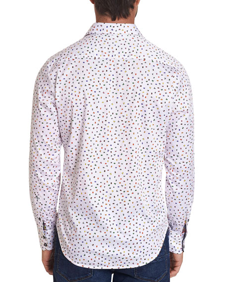 Robert Graham Men's Wave Your Flag Stretch-Cotton Sport Shirt
