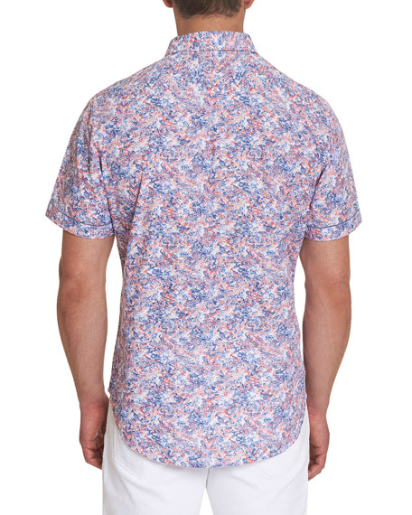 Robert Graham Men's Haas Watercolor Floral Sport Shirt