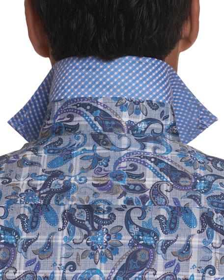 Robert Graham Men's Shaw Plaid Paisley Sport Shirt