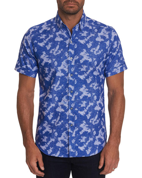 Robert Graham Men's Ward Camo Jacquard Sport Shirt