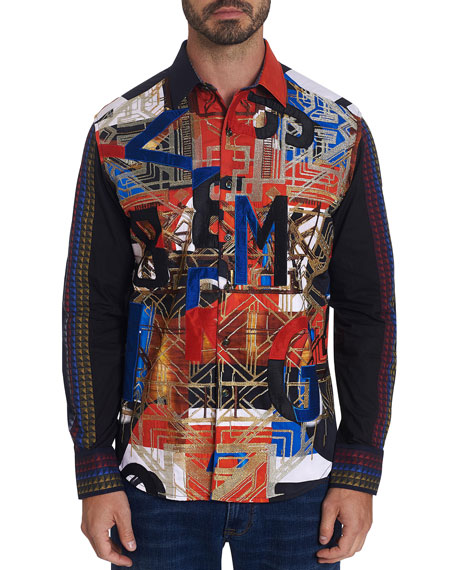 Robert Graham Men's Limited Edition Jomaduru Graphic Sport Shirt