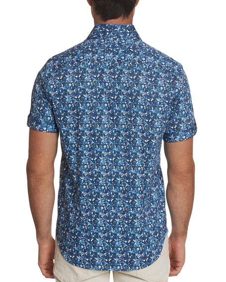 Robert Graham Men's Weaver Floral Mosaic Sport Shirt