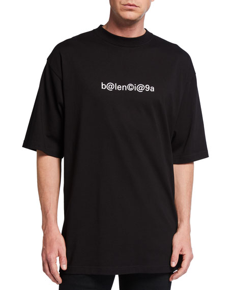 Image 1 of 2: Balenciaga Men's Keyboard Logo Tee
