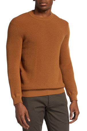 Ermenegildo Zegna Men's Solid Wool-Cashmere Knit Sweater