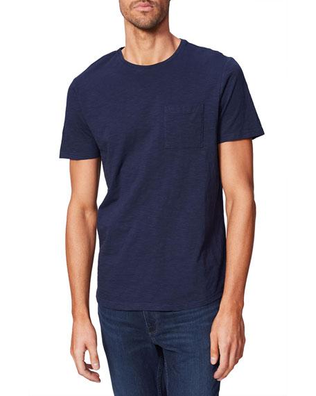 PAIGE Men's Kenneth Solid Crewneck T-Shirt w/ Pocket