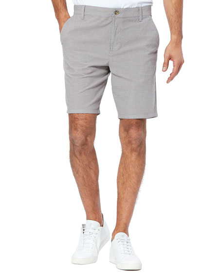 Image 1 of 2: PAIGE Men's Thompson Lightweight Stretch-Cotton Shorts
