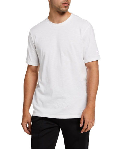 Puma Men's Pull Up Short-Sleeve Logo Tee