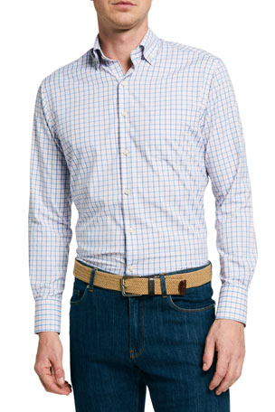 Peter Millar Men's Naylor Check Sport Shirt
