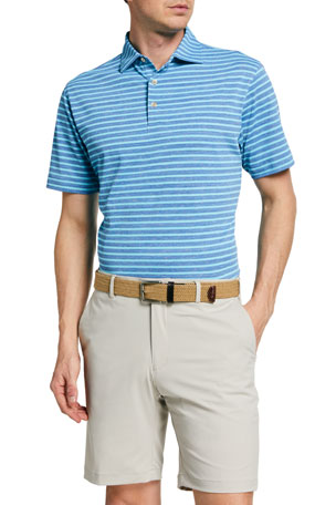 Peter Millar Men's All the Way Donegal-Stripe Polo Shirt