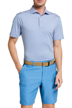 Peter Millar Men's Mills Striped Jersey Polo Shirt