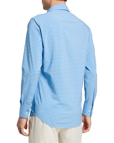 Image 3 of 3: Peter Millar Men's Exclusive Check Sport Shirt