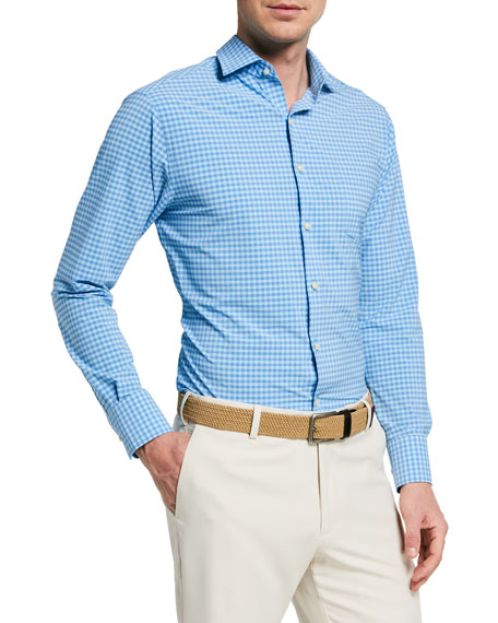 Image 1 of 3: Peter Millar Men's Exclusive Check Sport Shirt
