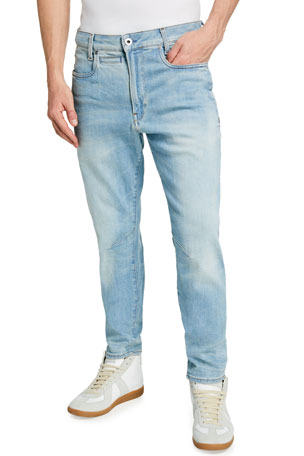 G-Star Men's D Staq Slim-Fit Vintage Wash Jeans