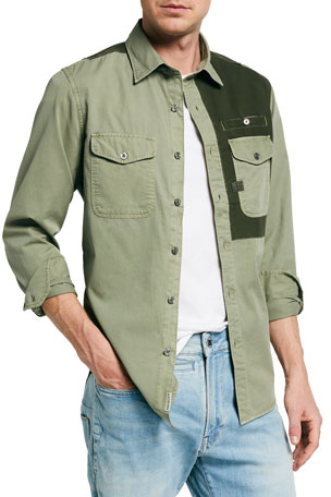 G-Star Men's Strek Slim Colorblock Work Shirt