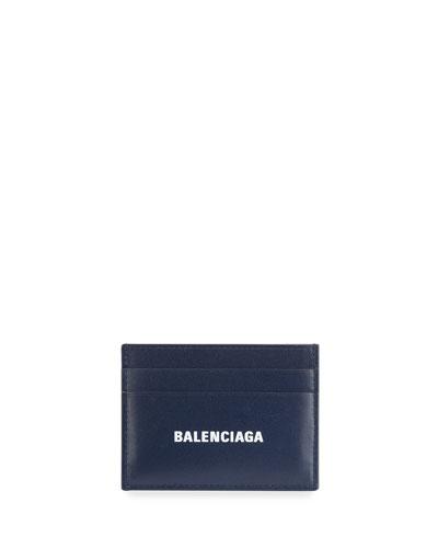 Men's Logo Leather Card Case