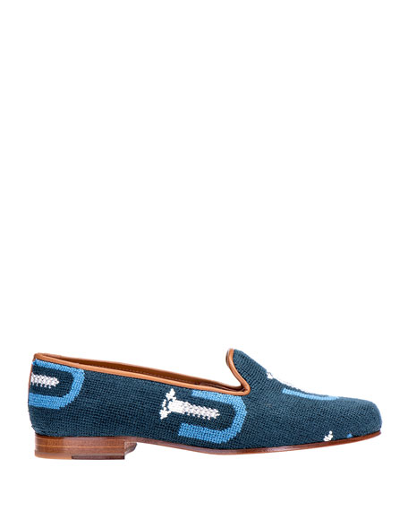 Stubbs and Wootton Men's Screwed Smoking Slipper Loafers