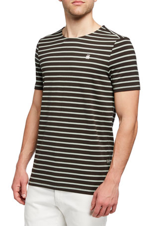 G-Star Men's Xartto Striped Organic Cotton T-Shirt
