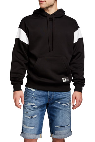 G-Star Men's Two-Tone Logo Pullover Hoodie