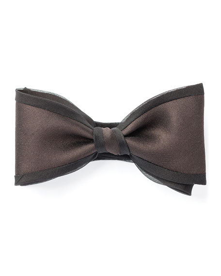 Title of Work Silk Gabardine Bow Tie with Organza Piping