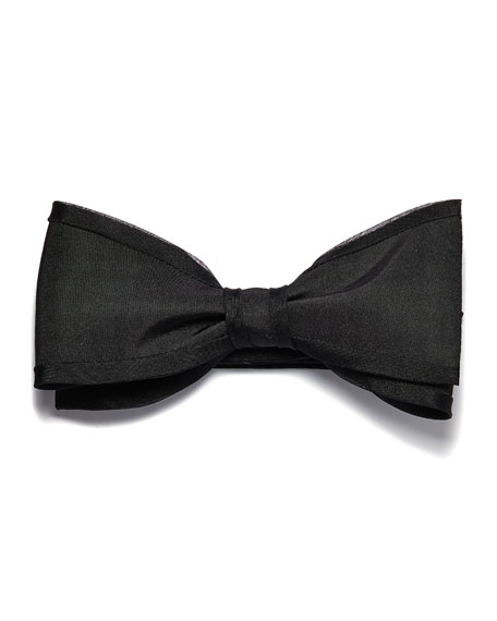 Title of Work Silk Gabardine Bow Tie with Self Piping