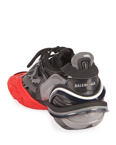Balenciaga Men's Tyrex Mixed-Media Sneakers