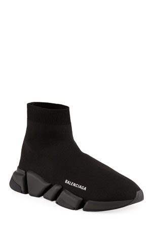Balenciaga Men's Tonal Speed Knit Sock Sneakers