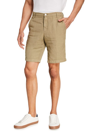 Massimo Alba Men's Chino Linen-Blend Shorts