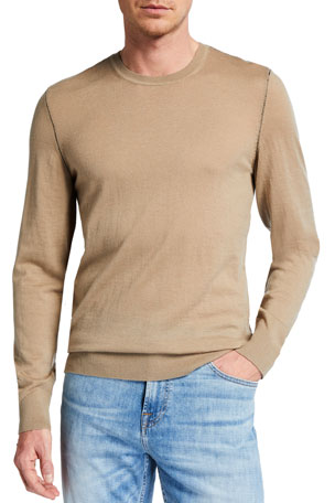 7 for all mankind Men's Merino Wool Crewneck Sweater