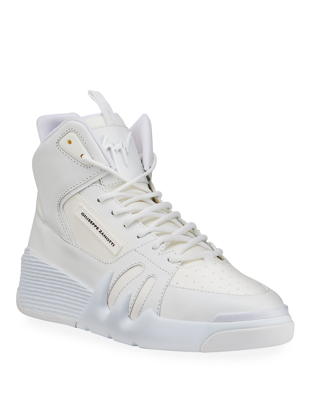 Talon Tonal Leather High-Top Sneakers