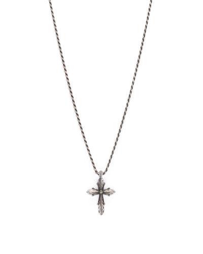 Men's Sterling Silver Cross Pendant Necklace