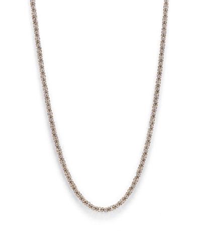 Men's Sterling Silver Byzantine Chain Necklace