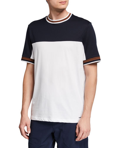 Men's Colorblocked Cotton T-Shirt