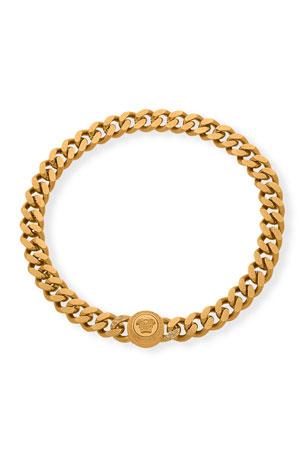 Versace Men's Curb Chain Medusa Head Bracelet