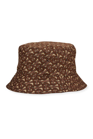 Burberry Men's TB-Print Nylon Bucket Hat