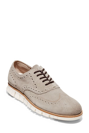 Cole Haan Men's Zerogrand Suede Wing-Tip Oxford Sneakers