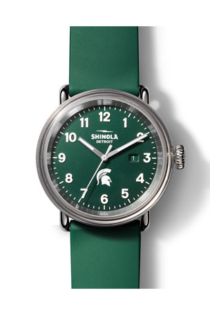 Shinola Men's 43mm Detrola The Spartan Silicone Watch