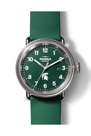 Shinola Men's 43mm Detrola The Spartan Silicone Watch