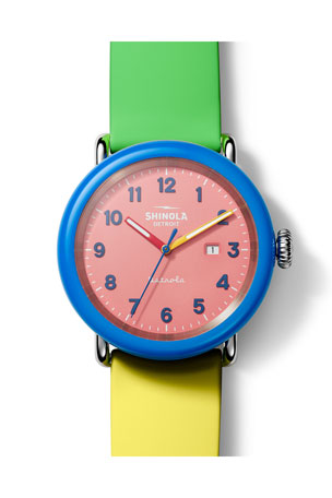 Shinola Men's 43mm Detrola The Gumball Silicone Watch