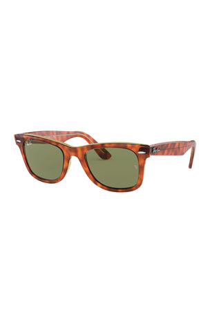 Ray-Ban Men's Square Patterned Acetate Sunglasses