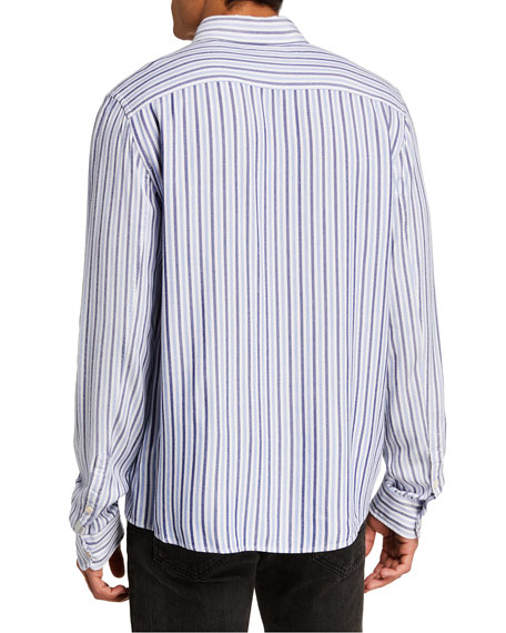 Image 2 of 2: Scotch & Soda Men's Lightweight Striped Sport Shirt
