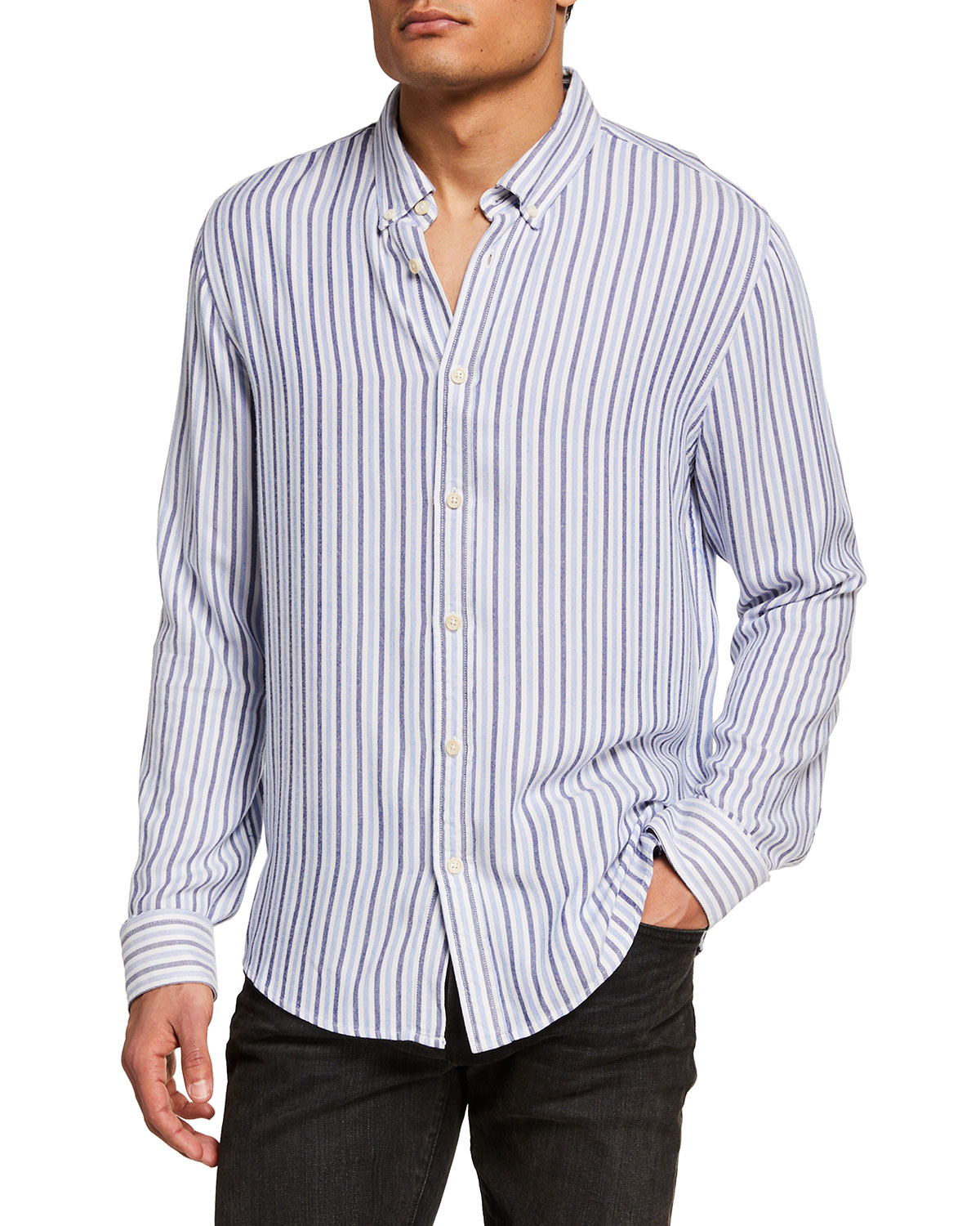 Scotch & Soda Men's Lightweight Striped Sport Shirt